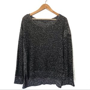 Eileen Fisher Scoop Neck Sweater Size XL Charcoal
